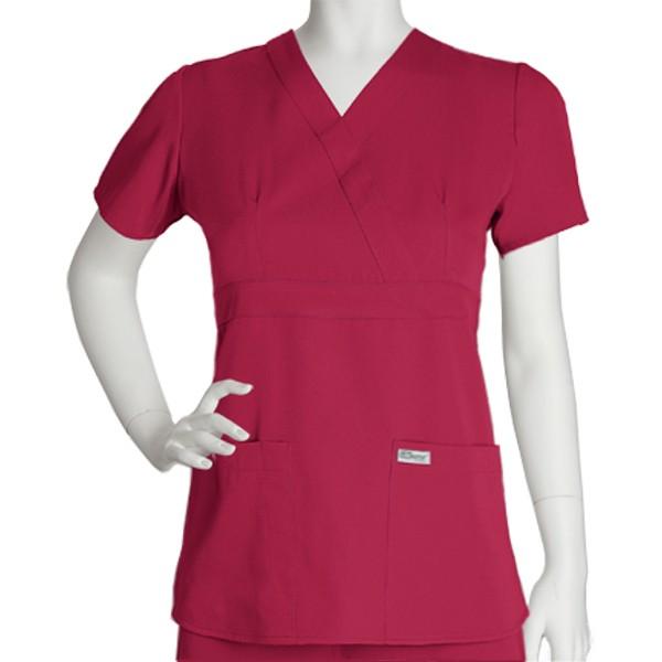Barco Greys Anatomy Womens Mock Wrap Top Saginaw Knitting Mills